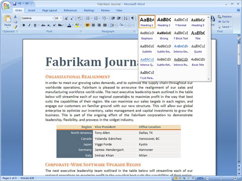 Office Word 2007