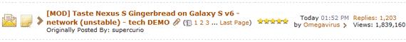 Galaxy Gingerbread Thread, XDA Forum