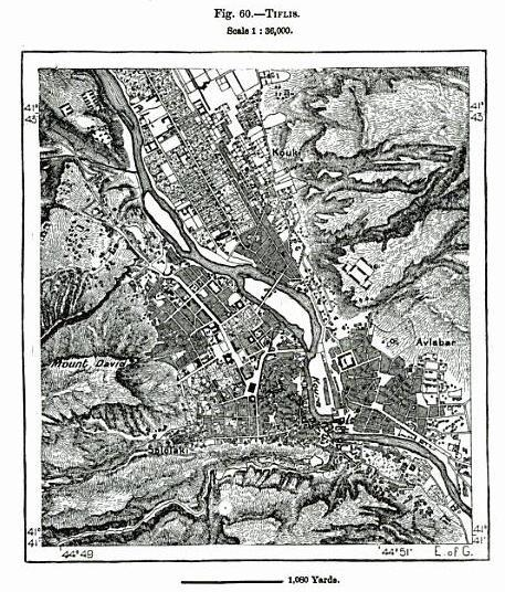 Map of Tiflis dated 1891