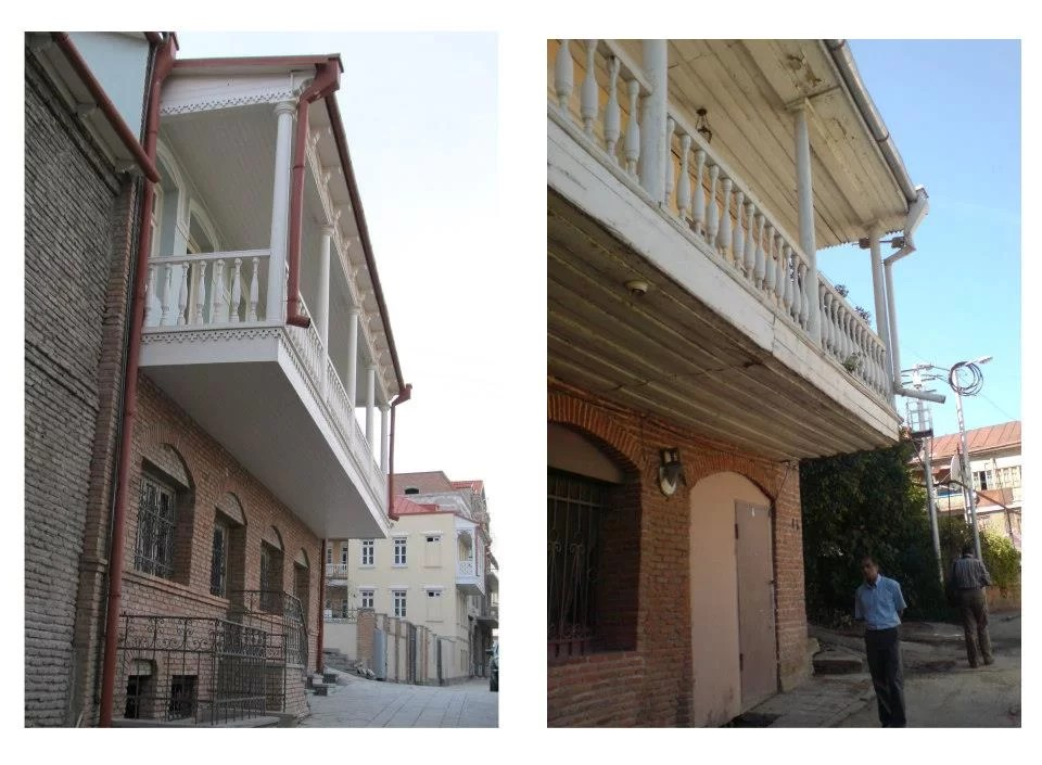 Old Tbilisi before and after reabilitation