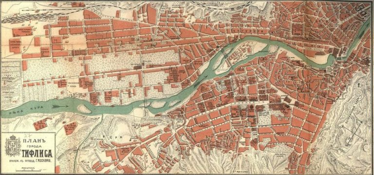 Map of Tiflis map dated 1913
