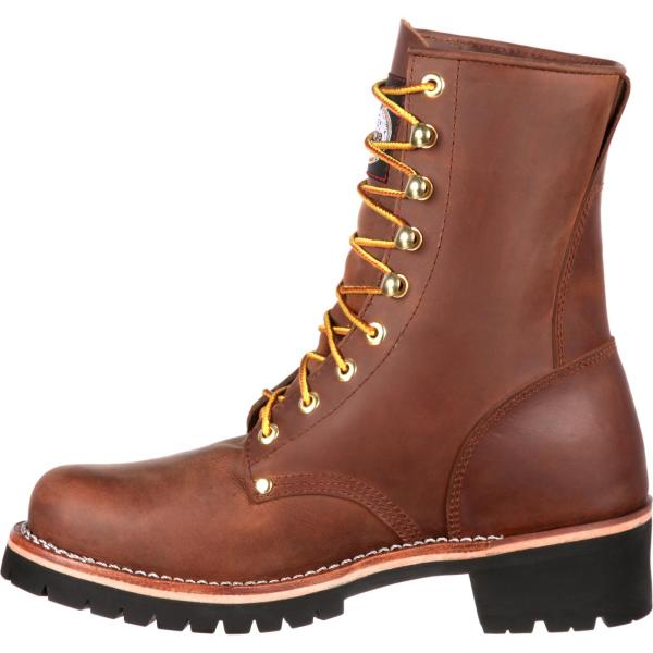 Georgia Boot Men' Brown Logger Work Style #gb00048