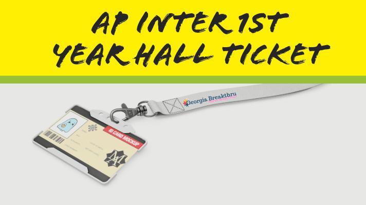 ap inter 1st year hall tickets 2020 -intermediate