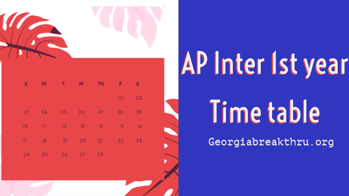 AP Inter 1st year exam time table 2020