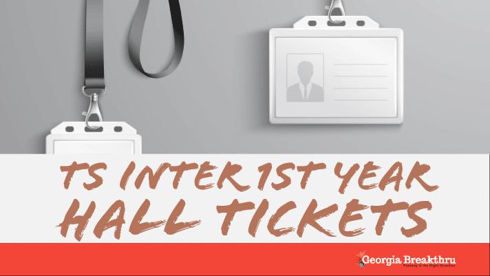 TS Inter 1st Year Hall Tickets 2020