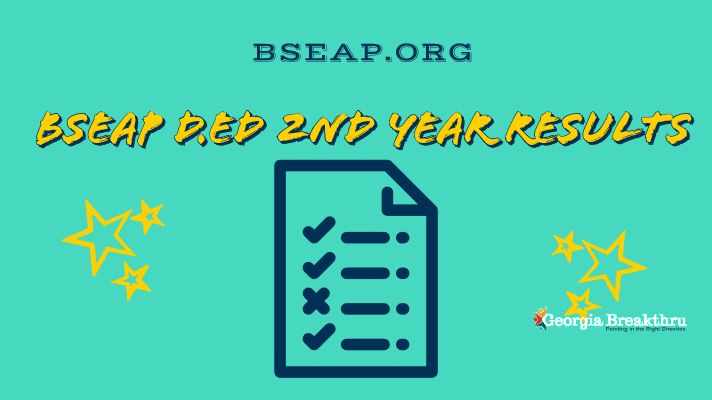 BSEAP DEd 2nd Year Results 2019