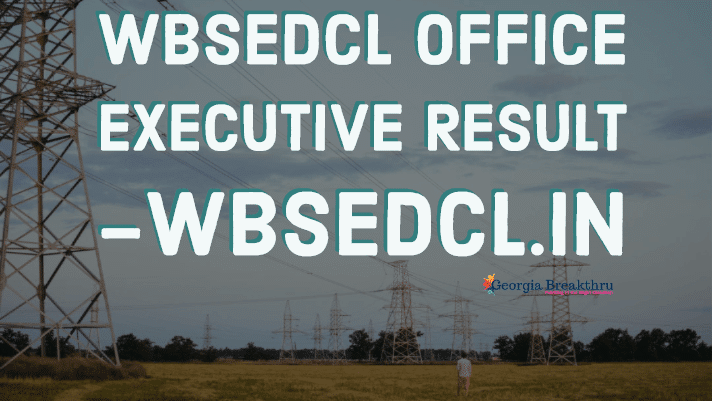 WBSEDCL Result 2019 – wbsedcl.in