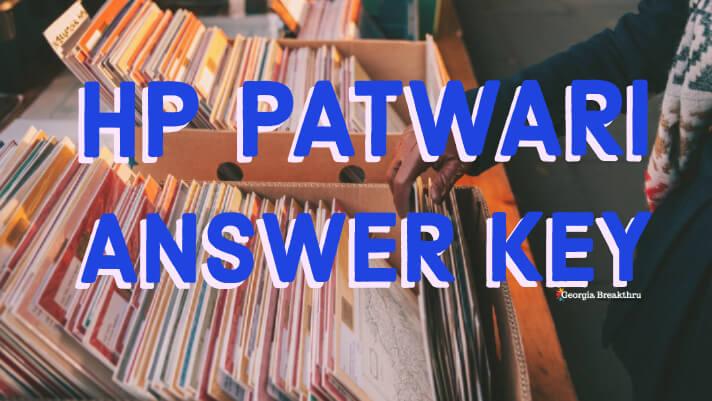 Himachal Pradesh Patwari Answer Key 2019 Cut off Marks
