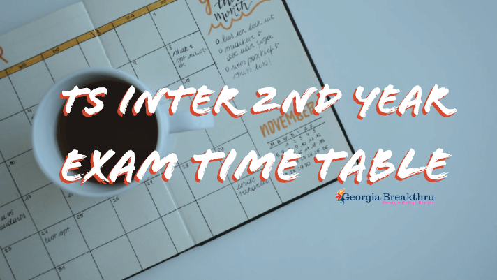 TS Inter Second Year Examination Time tables 2020