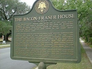 Bacon-Fraser House Marker