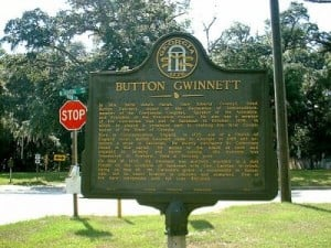 Button Gwinnett Historical Marker