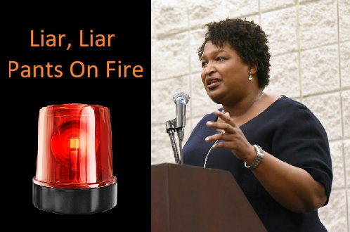 ALERT! Stacey Abrams Lied Today - Read It Here