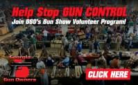 Help GGO Stop Gun Control – Volunteer at a Gun Show Near You!