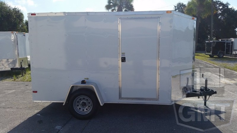 7 x 10 Single Axle Enclosed Trailer Basic Image