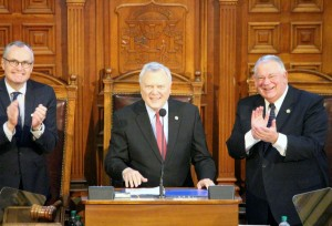 Governor Deal delivers the 2015 State of the State speech.  Photo: Jon Richards