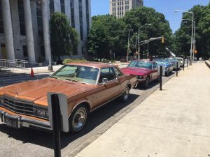 1970's cars outside GA Capitol for J. Edgar Hoover - Photo by Jon Richards