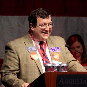 Senator Josh McKoon presenta a resolution at the 2016 Georgia GOP Convention Photo: Jon Richards