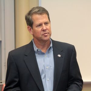 Secretary of State Brian Kemp addresses the UGA Republicans on August 24th.