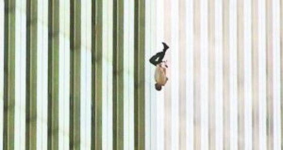 The Falling Man, taken by TIME on September 11, 2001 in New York City