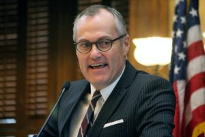 Lt. Governor Casey Cagle presides over the Georgia Senate on the first day of the 2015 legislative session.  Photo:  Jon Richards