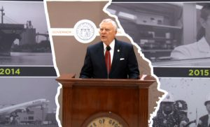 At the Gold Dome, Governor Deal talks about the state's economic development efforts.
