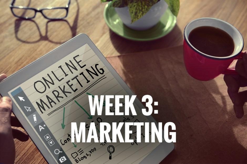 Week 3: Marketing