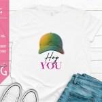 Hey You Hat Design Mockup