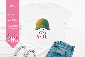 Hey You Hat Design Mockup