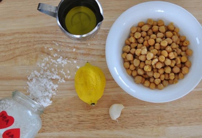 making hummus