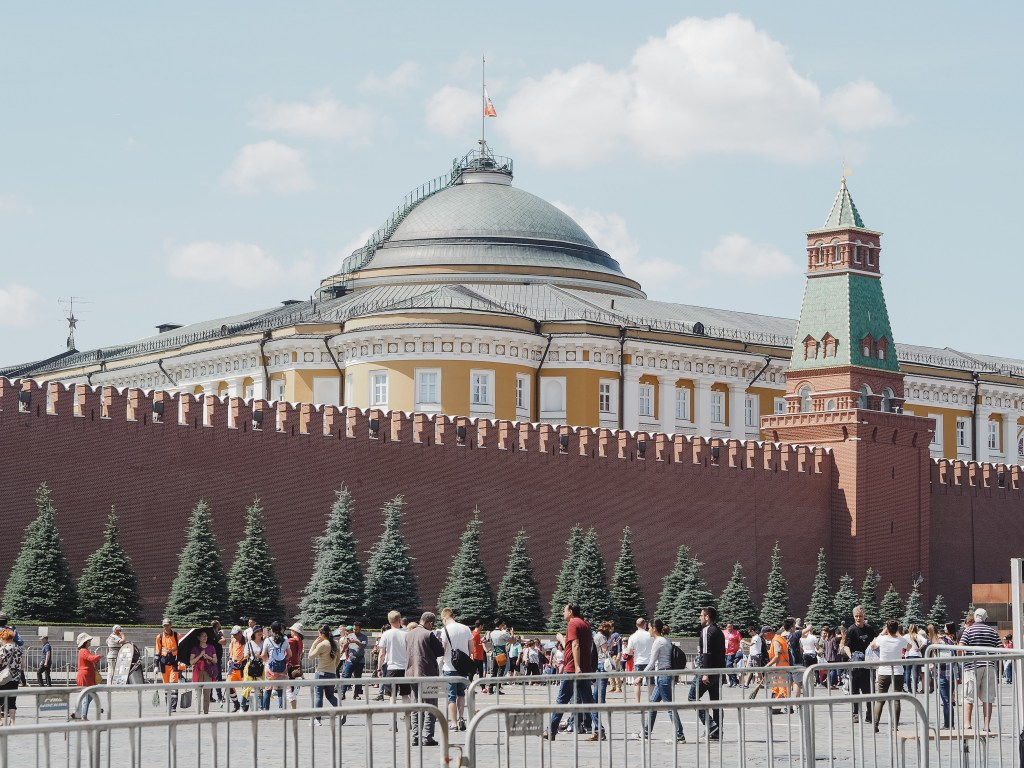 the kremlin from red square moscow russia