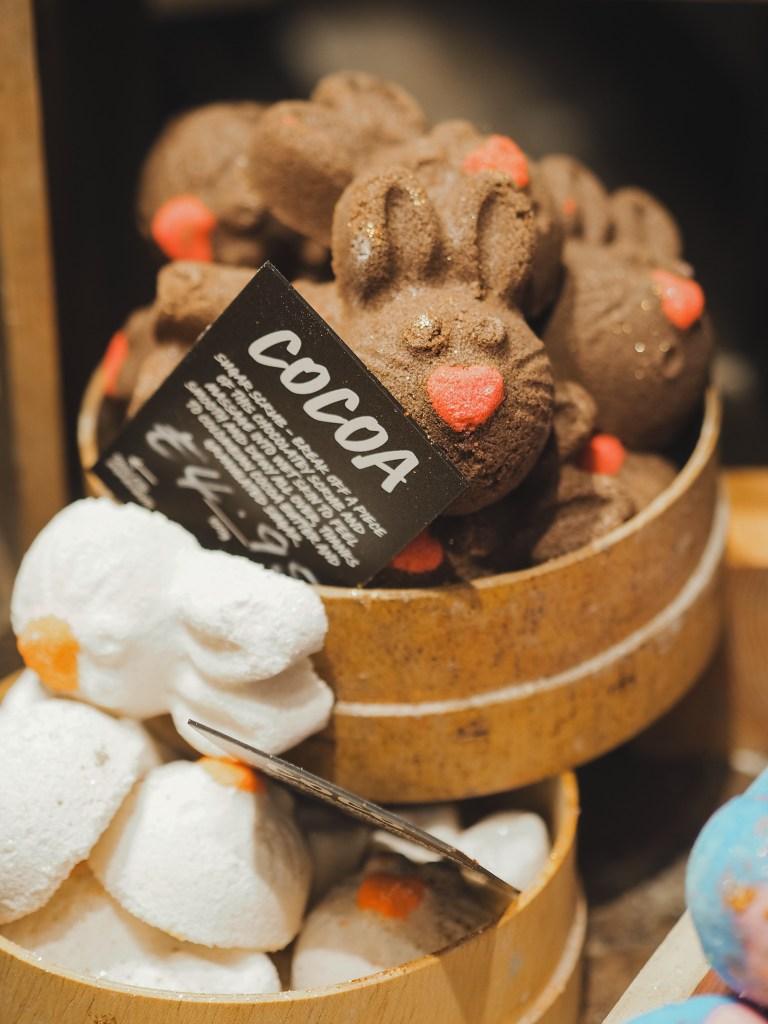 Lush cocoa body scrub