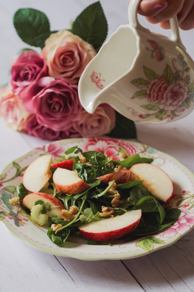 apple and spinach salad for gerd and gastroparesis