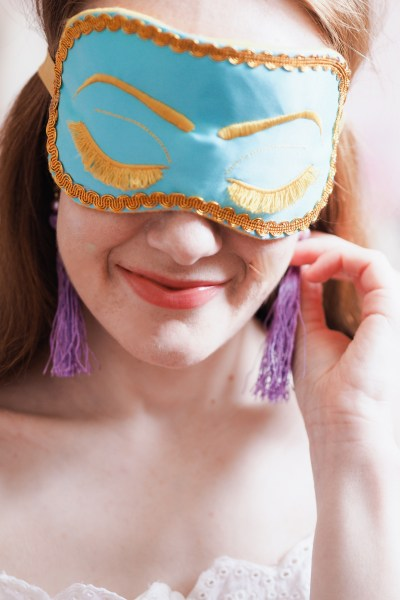 ShushBear Mask | Breakfast at Tiffany's Holly Golightly Eye Masks