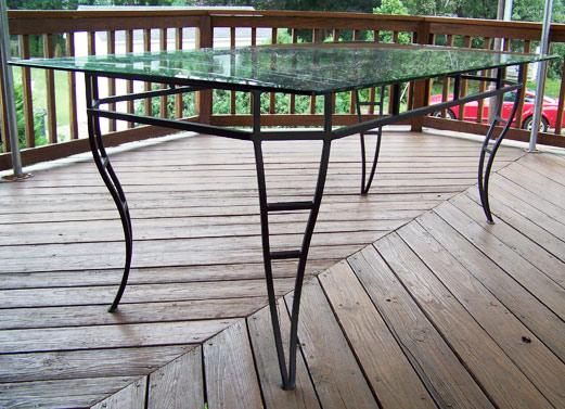 wrought iron railings tables gates