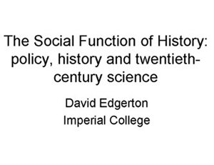 GEOSET » The social function of history: policy, history