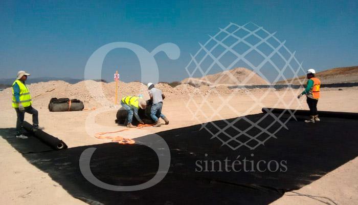 Relleno Sanitario HDPE de 20 mil m2 .09mm, doble capa de #geotextil. Querétaro, México