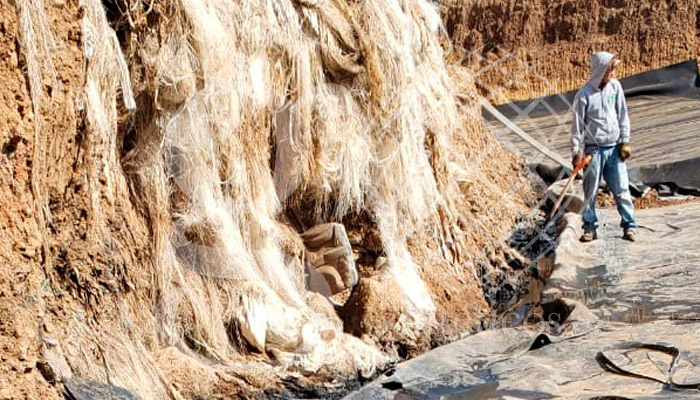 Geosintéticos México, Obra de talud vertical en Tlaxcala.