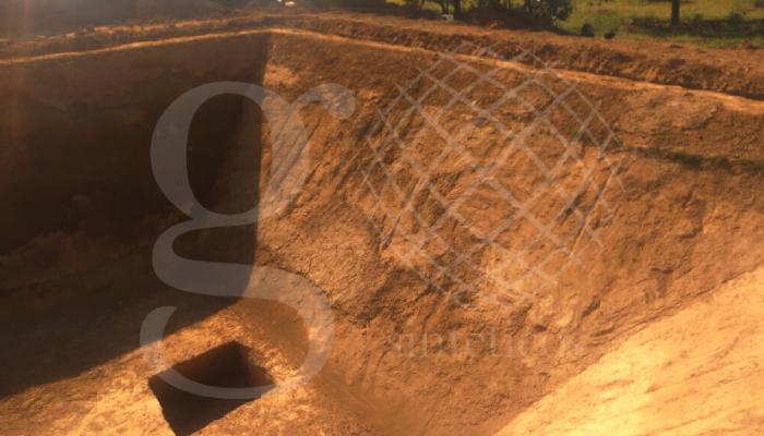 Instalación de 10 ollas de agua que se instalarán hoy, cada una de 500 m2 aproximadamente.