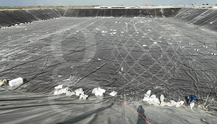 Olla de #captación de agua en Durango, el trabajo se encuentra en la última semana de avance, etapa en la que se están colocando los flotadores.