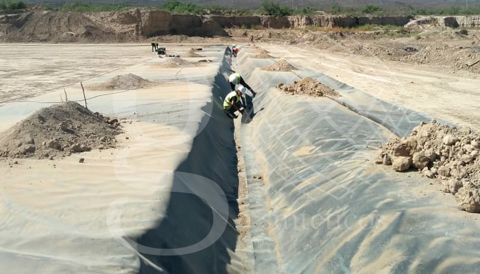 Celda de Relleno sanitario en Saltillo, Coahuila. 20 mil m2. #HDPE.