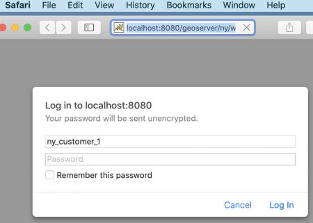 Safari - accessing secure services - basic authentication