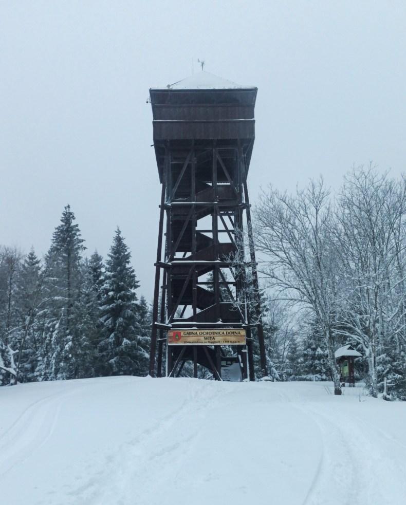 Wieża widokowa na Magurkach Dolina Potoku Jaszcze