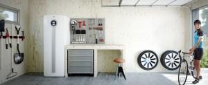garage autorimessa con pompa di calore geotermica o modulo interno pompa di calore aria acqua airmodule