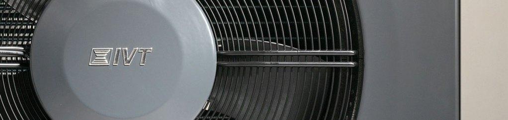 dettaglio ventilatore unità esterna pompa di calore aria acqua IVT AirX