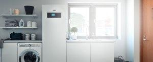 pompa di calore geotermica o modulo interno pompa di calore aria acqua airmodule installata in cucina