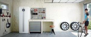pompa di calore geotermica in garage