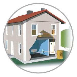 esempio di installazione con pompa di calore aria acqua