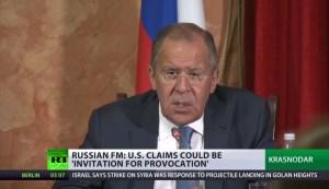 """Lavrov: """"Beschuldiging van nieuwe chemische aanval Assad werkt terreur in de hand"""""""