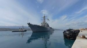 Amerikaanse oorlogsschepen op weg naar Syrië