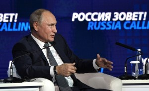 """Poetin: """"Wij laten de dollar niet vallen, de dollar laat ons vallen"""""""